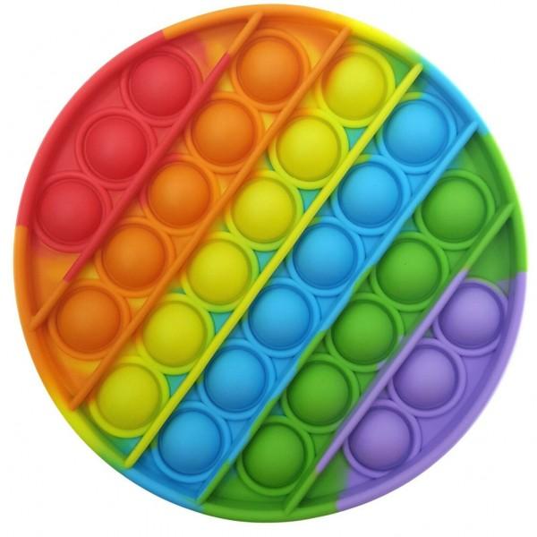 разноцветная антистресс пупырка круглая